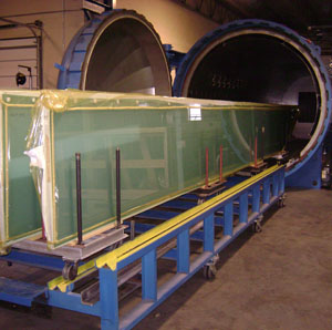 In Patriot Armor LLC�s advanced production facility, glass, laminates and polycarbonate sheets are interlaid in a clean room to ensure clarity. In our large autoclave, superheated steam seals the layers together.